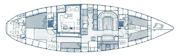 Interior layout of Super Maramu 2000, AMEL 53